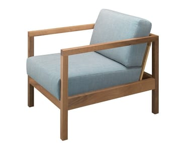 Solid wood armchair with armrests BYRON