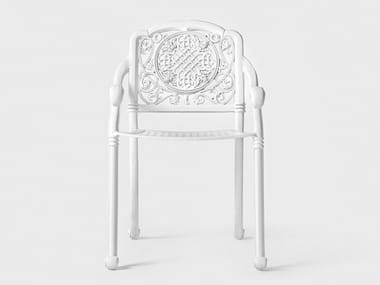 Sedia da giardino in alluminio con braccioli BYZANTIUM | Sedia da giardino