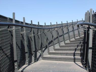 Expanded mesh balustrade Balustrade
