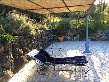 Wrought iron garden daybed Beach lounger 2