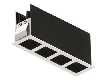 LED rectangular recessed aluminium spotlight Bitpop 4.1