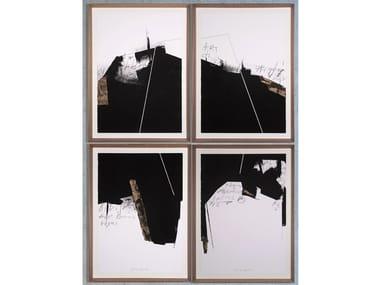 Paper Painting Black I, II, III & IV