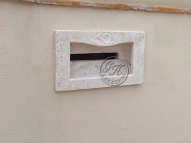Built-in natural stone mailbox Mailbox 2