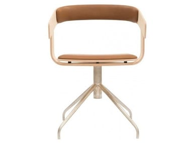 Chair with 4-spoke base with armrests BuzziFloat Cross