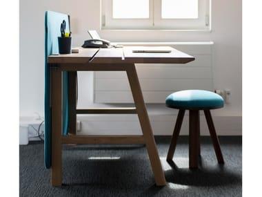 Scrivania operativa rettangolare in legno BuzziPicNic Desk