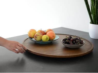Round wooden tray BuzziSuzzi