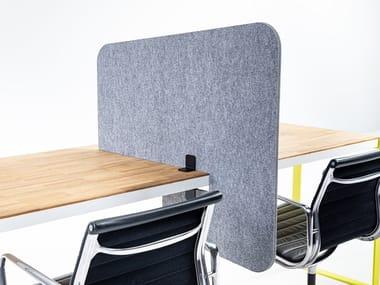 Sound absorbing mobile Recycled PET desktop partition BuzziTripl Desk Split