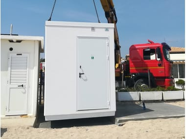 2 functions reinforced concrete Prefabricated toilet for Disabled C-04(01) | Prefabricated toilet