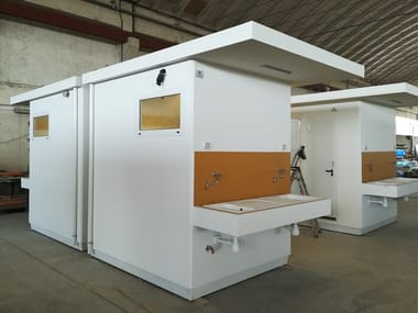 3 functions reinforced concrete Prefabricated toilet for Disabled C-06(02) | Prefabricated toilet