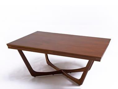 Tavolino rettangolare in mogano C'EST LA VIE | Tavolino