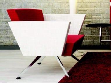 Fabric lobby chair with armrests C1 B | Armchair