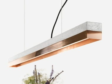 Dimmable LED pendant light (L 122cm) [C1] COPPER