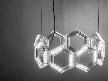 Lampada a sospensione a LED in PMMA C16