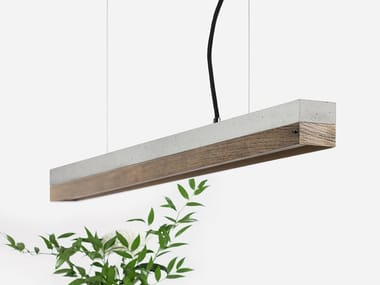 Dimmable LED pendant light (L 92cm) [C2] OLD WOOD