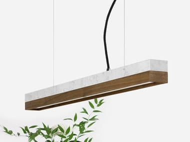 Dimmable LED pendant light (L 92cm) [C2m] CARRARA WALNUT