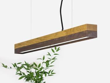 Dimmable LED Pendant Light (L 92cm) [C2o] CORTEN STEEL