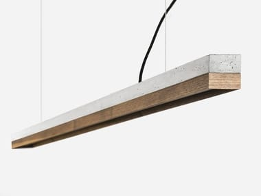 Dimmable LED Pendant Light (L 182cm) [C3] WALNUT