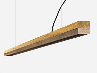 LED wooden pendant lamp [C3o] WALNUT