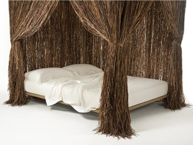 Raffia double bed CABANA | Bed
