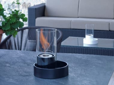 Table-top bioethanol ceramic fireplace CABARÈ