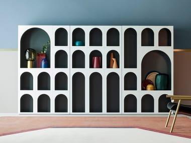 Lacquered modular bookcase CABINET DE CURIOSITÈ