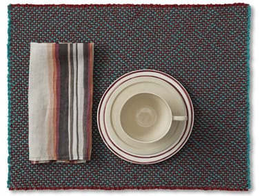 Woven Rectangular cotton placemat CABLE TF