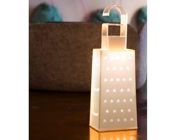 Lampada a batteria ricaricabile in Laprene® CACIO&PEPE BATTERY