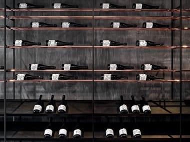 Metal bottle rack CAGE-B | Bottle rack