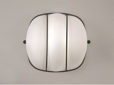 LED blown glass ceiling light CAGE | Ceiling light