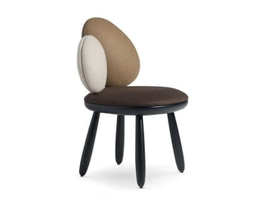 Upholstered fabric chair CAIRN