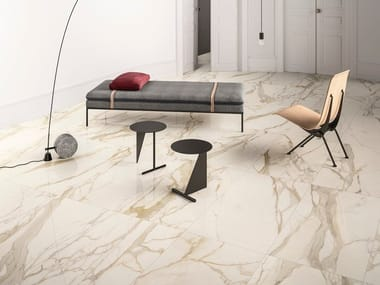 Porcelain stoneware wall/floor tiles with marble effect CALACATTA ELITE