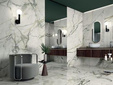 Pavimento/rivestimento antiscivolo in gres laminato effetto marmo CALACATTA EMERALD
