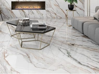 Sintered ceramic wall/floor tiles with marble effect CALACATTA PAONAZZO