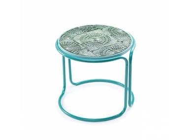 Tavolino da caffè rotondo in ceramica CALDAS | Tavolino da caffè