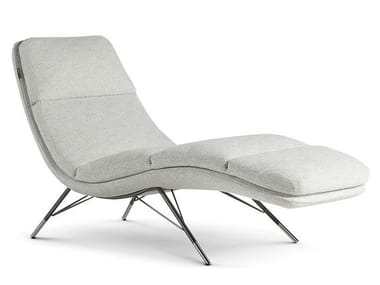 Upholstered fabric lounge chair CALIBRI