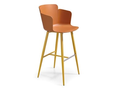 Plastic barstool with armrests CALLA P75 M PP