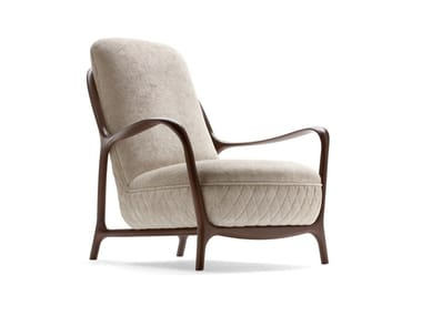 Fabric armchair with armrests CALLAS