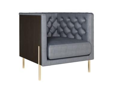 Tufted fabric armchair with armrests CALLIE | Armchair