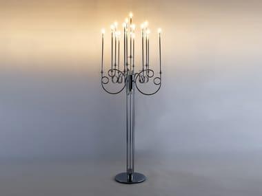 Lampada da terra per esterno a LED in acciaio cromato CALLIGRAFICO | Lampada da terra per esterno a LED