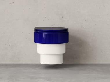 Hängendes WC aus Keramik CALLIPYGE ORIGINALS TWO-TONE BLUE/WHITE