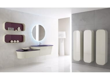 Wall-mounted vanity unit with mirror CALYPSO 01