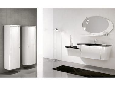 Wall-mounted vanity unit with mirror CALYPSO 02