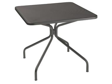 Square steel garden table CAMBI | Square table