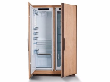 Solid wood Kitchen unit for refrigerator with handles CAMBUSA FRIDGE