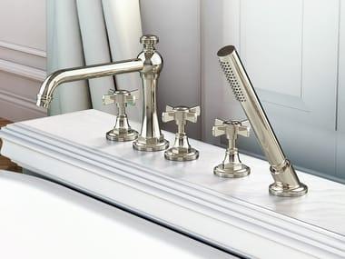 5 hole Recessed bathtub set with hand shower CAMDEN | Bathtub set
