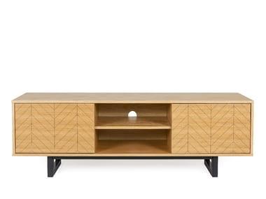 Wood veneer TV cabinet CAMDEN | TV cabinet
