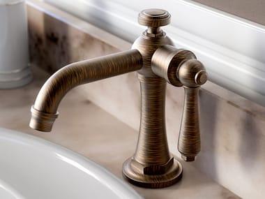 Contemporary style countertop 1 hole metal washbasin mixer without waste CAMDEN | Washbasin mixer