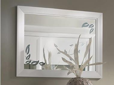 Wall-mounted framed mirror CAMELIA | Mirror