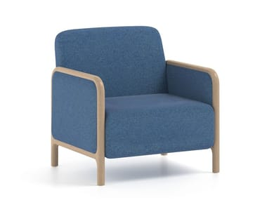 Upholstered fabric armchair with armrests CAMEO | HEALTH & CARE | Armchair