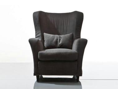 Fabric armchair with armrests CAMILLA | Fabric armchair